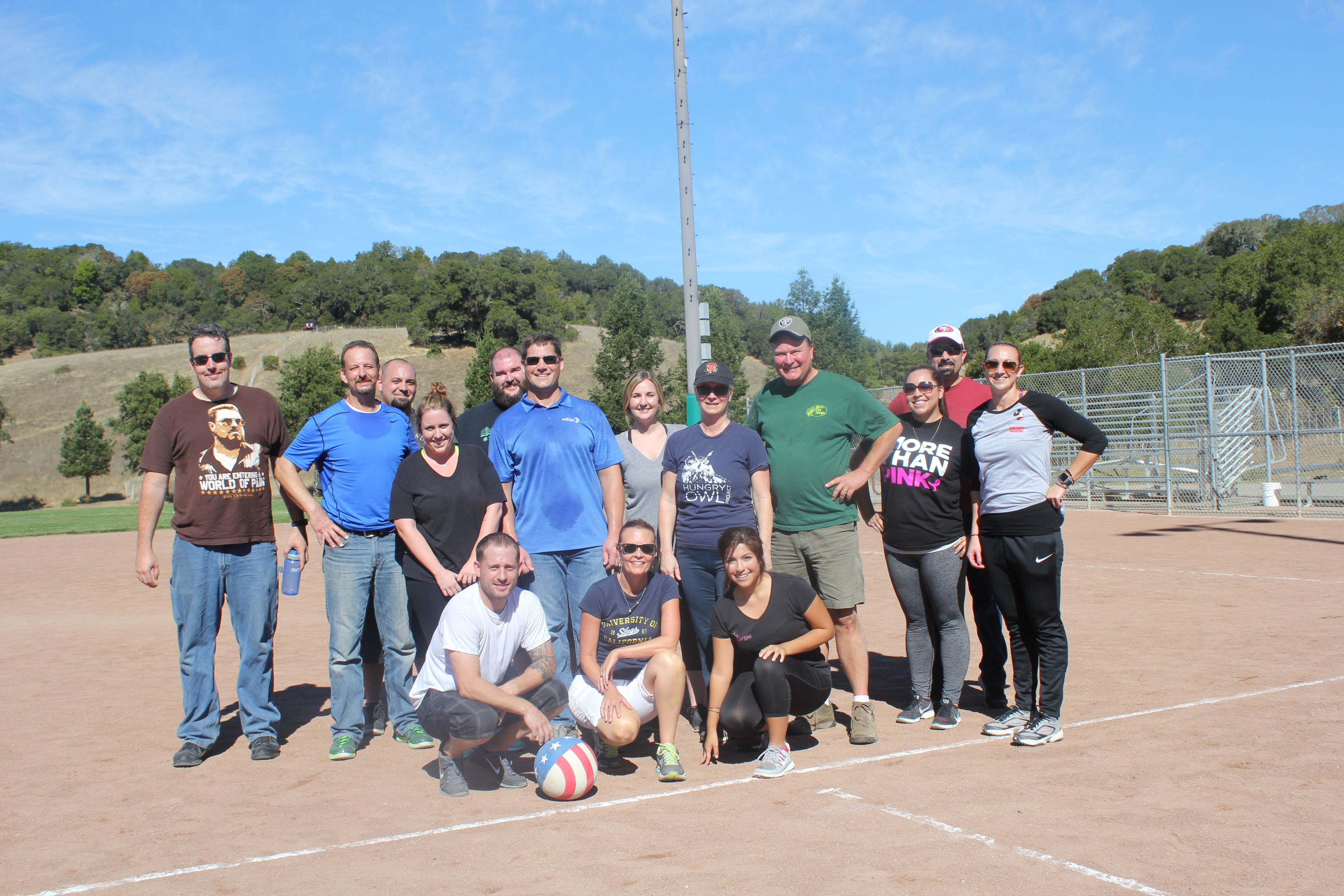 Millenials vs. GenX/Baby Boomers kickball tournament 2017
