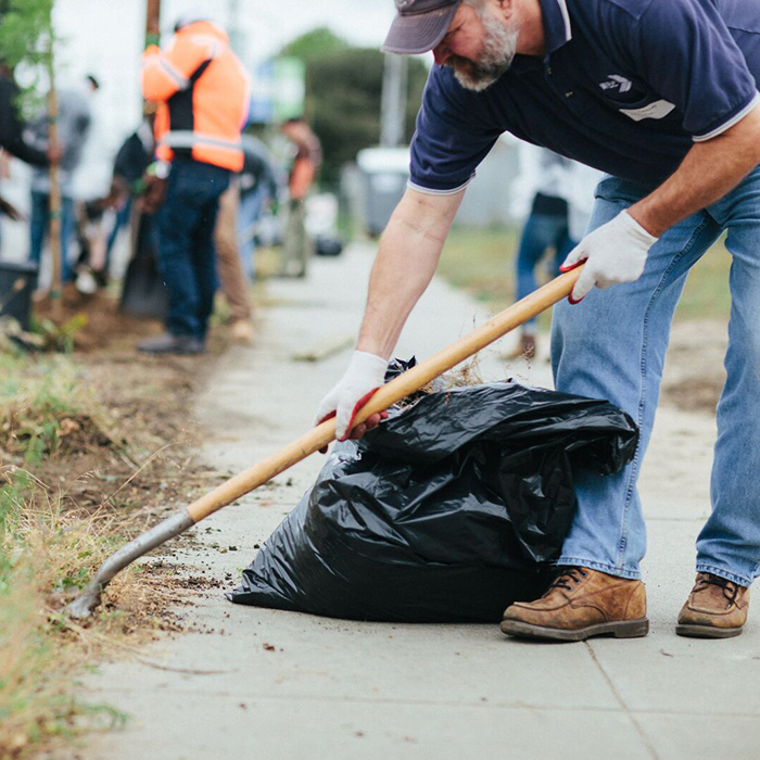 WBE donated trees and participated in Teecom's Earth Day street clean up in Oakland