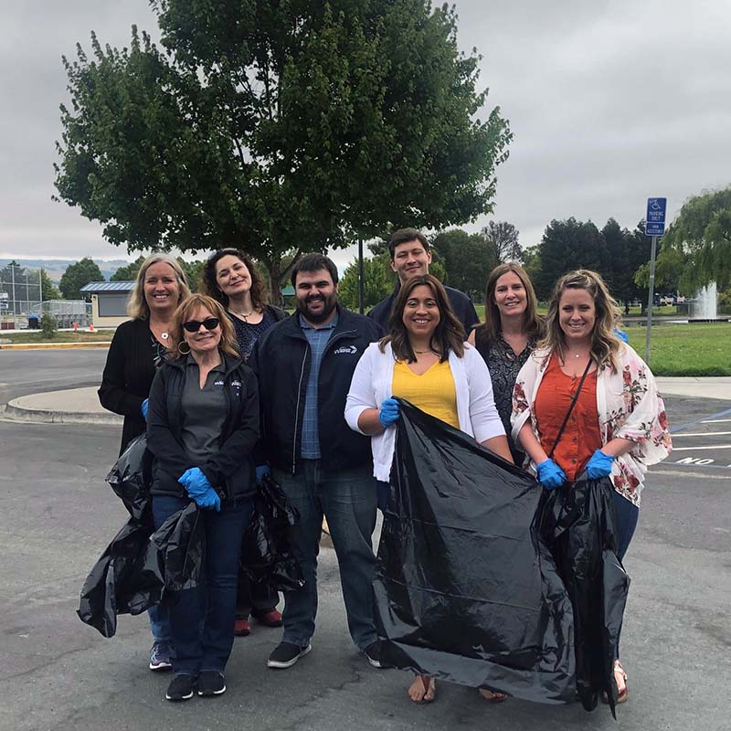 WBE Team Clean Up Lucchesi Park