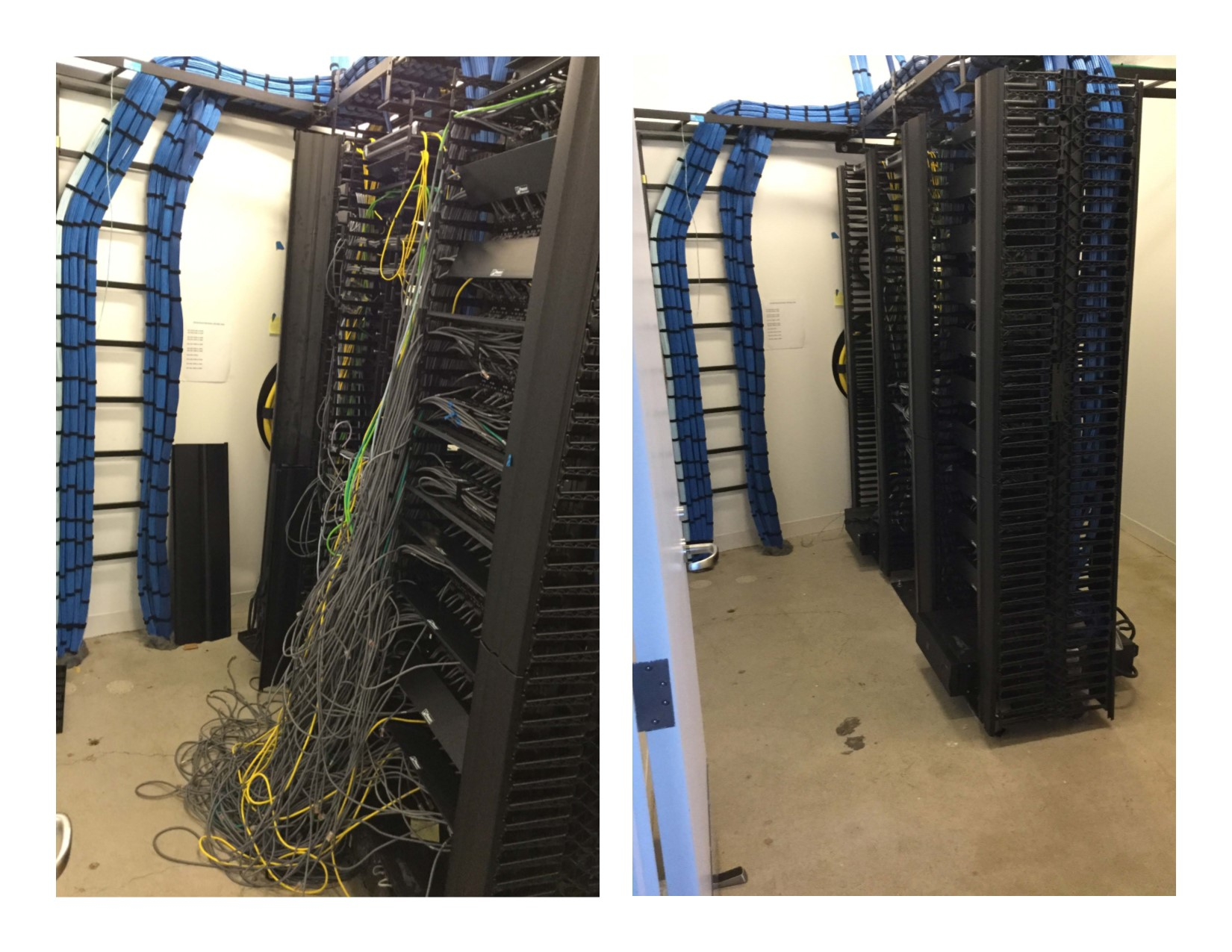 Telcom Rack Cleanup Before And After