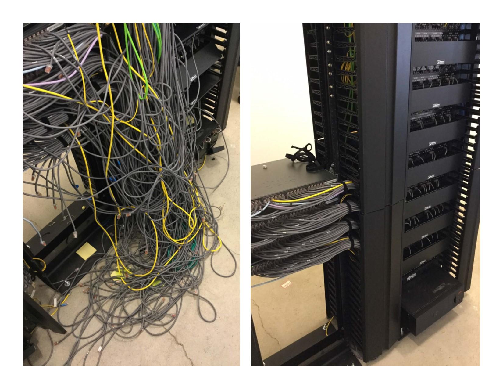 Telcom Entire Server Room Cleanup