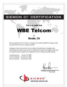 Siemon CI Certification