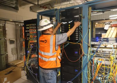 Installation Of New Fiber Backbone To All Of The IDFs